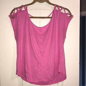 Pink Cut Out Top